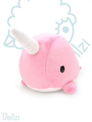 Bellzi® Cute Pink Narwhal Stuffed Animal Plush Toy - Narrzi
