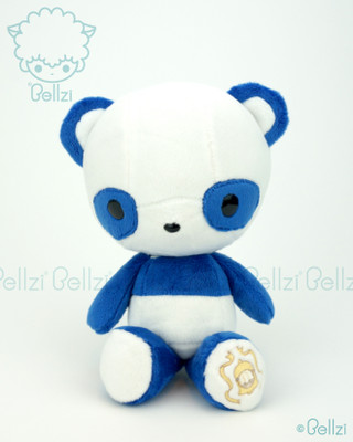Cute Bellzi® Electric Blue  Panda Stuffed Animal Plush Doll Toy