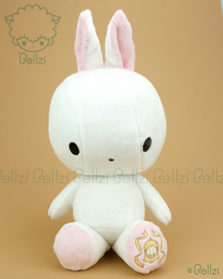 Bunny Rabbit Stuffed Animal Plush Toy - White with Ivory Blush