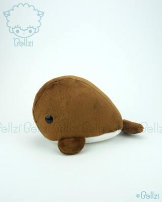 Whale Stuffed Animal Plush Toy - Caramel Brown