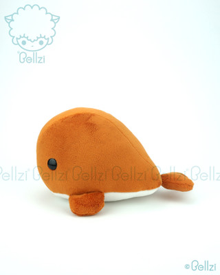 Whale Stuffed Animal Plush Toy - Rusty Orange