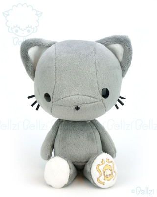 Bellzi® Cute Silver Grey Kitty Cat Stuffed Animal Plush Toy - Kitti