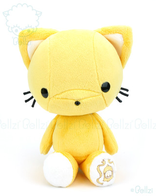 Bellzi® Cute Sunshine Yellow Kitty Cat Stuffed Animal Plush Toy - Kitti
