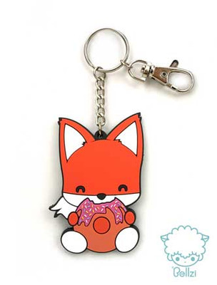Bellzi® Foxxi the Cute Orange Fox Keychain