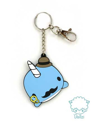 Bellzi® Narrzi The Cute Blue Narwhal Keychain