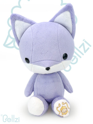Bellzi® Cute Purple Fox Stuffed Animal Plush Toy - Foxxi