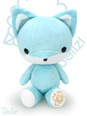 Bellzi® Cute Teal Fox Stuffed Animal Plush Toy - Foxxi