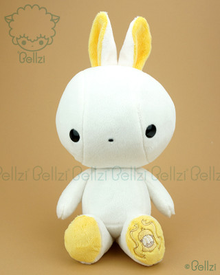 Bunny Rabbit Stuffed Animal Plush Toy - White with Sunshine Yellow