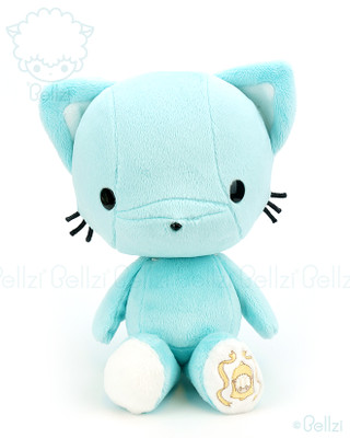 Bellzi® Cute Teal Kitty Cat Stuffed Animal Plush Toy - Kitti