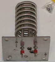 """Spa Heater Element, 5"""" x 5"""" Plate, 2 Thermowells, 6kw, O-Ring, 240 V"""