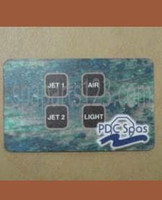 PDC Spas Topside Control Inlay 8