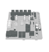 OP33-1006-42 Artesian Spas Circuit Board, MSPA-MP, 3 Pump