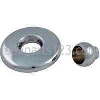 GG Mini Spa Jet Escutcheon & Eyeball, Metal Brass-Metal Chrome