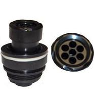 Adjustable Jet Insert 7 Port Push/Pull, 1/4, Black