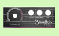 650-0011 Marquis Spas 1000, 3 Button Topside Panel Overlay