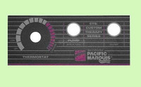 650-0010 Marquis Spas 1000, 2 Button Topside Panel Overlay