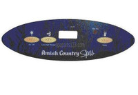 650-0460 Amish Country Spas Topside Overlay, 3 Button