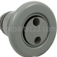 "3 3/8"" Smooth Poly Spa Jet Pulsator, Gray"