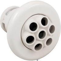 """3 3/8"""" Smooth Poly Spa Jet Massage 7 Nozzles White"""