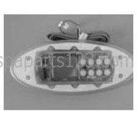 11010 Dynasty Spas Topside Control, K-52, Curved, SSPA Pack, No Overlay, w/Brackets, 3-00-7120/0202-008008
