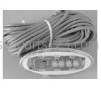 11008 Dynasty Spas Topside Control, Auxiliary, K-3-B-BL-CL-25-ADNO, 4-1/2 x 2 Oval, MSPA-MP Pack, No Overlay, 0200-008001