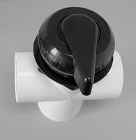 "10818, Dynasty Spas Diverter, WW, 2 Port, 2"" Plumbing, Black"