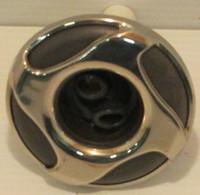 "3"" Dynasty Spa Jet, Mini Stom, Threaded, Twin Roto, Mtl/Gry, 4 Swirl, 2013, 14880"