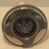 "3"" Dynasty Spa Jet, Mini Storm, Threaded, Multi Massage, LED, Gry/Mtl, 4 Swirl, 14533"