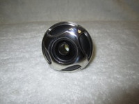 "2"" Coast Spas Jet, Cluster Storm, Threaded, Directional,4 Swirl, Black W/ Stainless, 229-2701Sx"