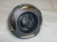 "3-3/8"" Coast Spas Jet, Poly 4 Swirl, Twin Roto, Dark Gray W/ Stainless, 212-4029S-DSGx"