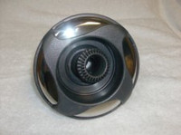 "5"" Coast Spas Jet, Power Storm, 4 Swirl, Directional, Dk Gray W/ Stainless, 212-6349S-DSGx"