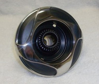 "5"" Coast Spas Jet, Power Storm, Threaded, 4 Swirl, Stainless W/ Black, 229-2601Sx"