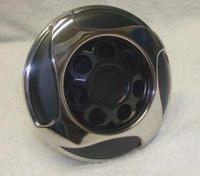 "5"" Coast Spas Jet, Power Storm, Threaded, 4 Swirl, Stainless W/ Black, 229-2651Sx"