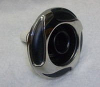 "5"" Coast Spas Jet, Whirlpool, 4 Swirl, Stainless W/ Black, 212-2901Sx"