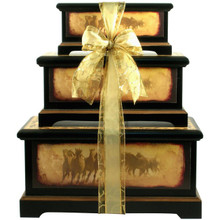 Born Free, Deluxe Wooden Trunk Set with Gourmet Gifts