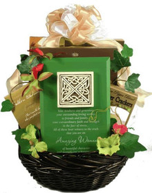 Amazing Woman, Gift Basket with Tribute Plaque