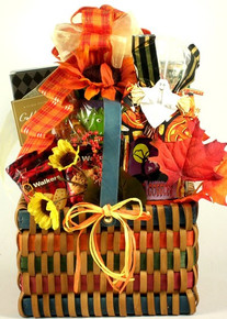 Sending this festive basket full of gourmet goodies to their house for Halloween is sure to be the best treat of all!