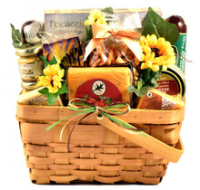 Who wouldn't love this wonderful springy gift filled with a collection of all-time favorite combinations of Wisconsin cheeses, sausage, crackers, nuts and more! This basket is a best seller so be sure to order yours while you can.