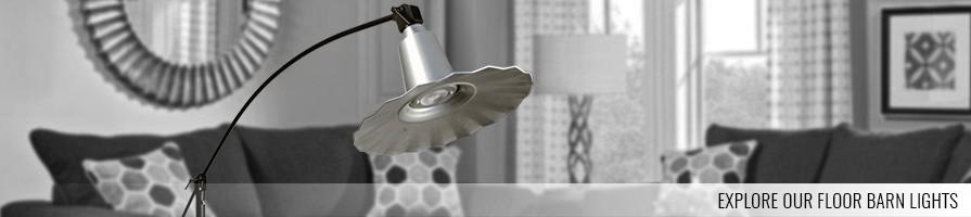 galvanized silver LED Industrial Floor Lamp