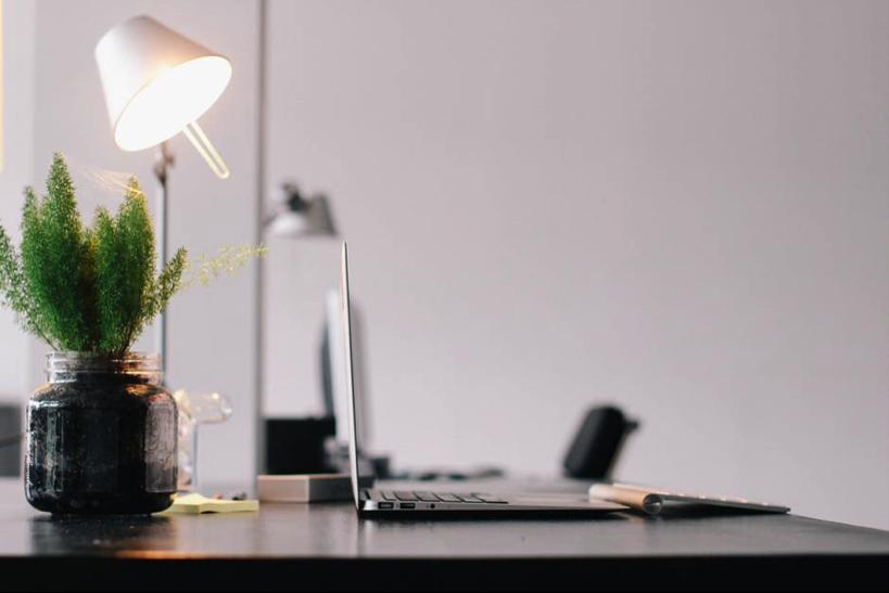 Desk Lamp on Black Table- Cocoweb