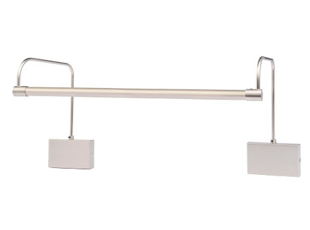 "LED Satin Nickel 12"" Tru-Slim Hardwire Picture Light"