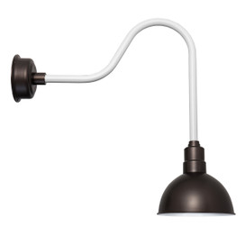 "Mahogany Bronze 10"" BlackSpot with White LED Barn Light"