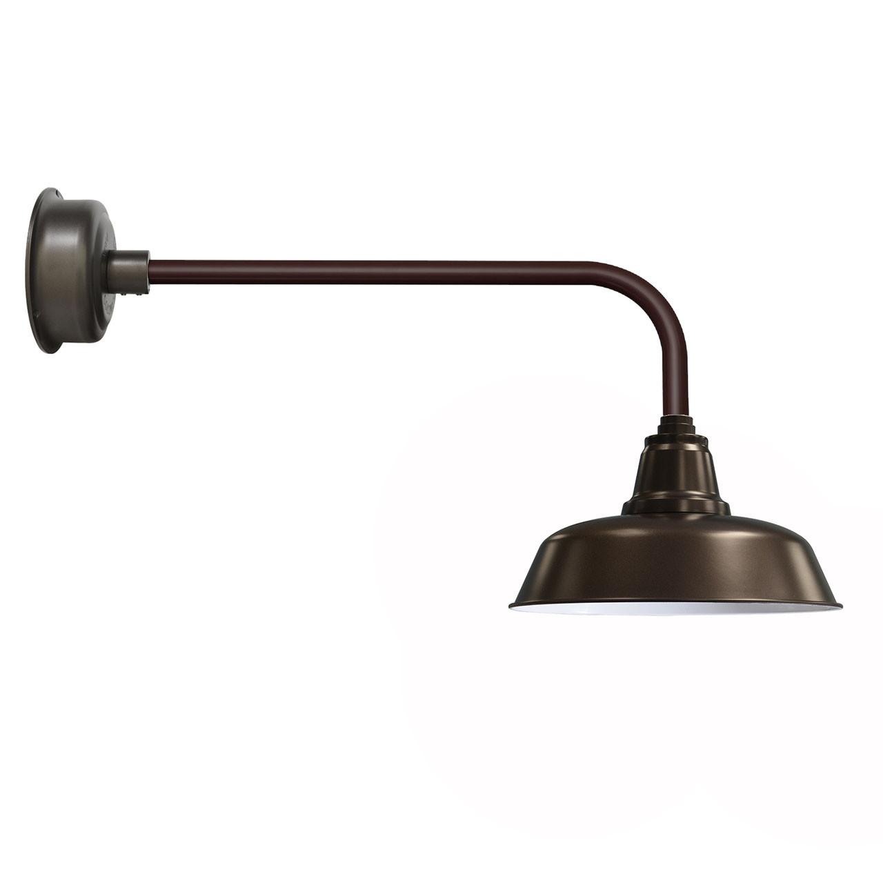 "Goodyear 1 Light Outdoor Barn Light: Traditional 14"" Mahogany Bronze Goodyear Indoor/Outdoor"