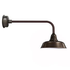 "Traditional 14"" Mahogany Bronze Goodyear Indoor/Outdoor LED Barn Lights"