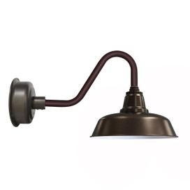"14"" Mahogany Bronze Goodyear Indoor/Outdoor Vintage LED Barn Lights"