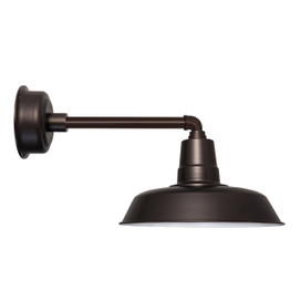 "Metropolitan 16"" Mahogany Bronze Oldage Indoor/Outdoor LED Barn Light"