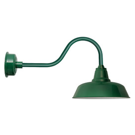 "Vintage Green 14"" Goodyear Indoor/Outdoor LED Contemporary Barn Lights"