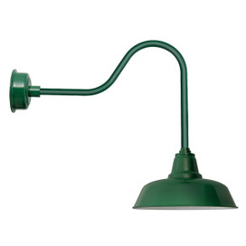 "Goodyear Vintage Green Sleek 14""  Indoor/Outdoor LED Barn Lights"