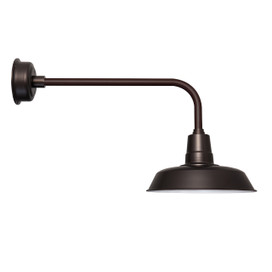 "Oldage 16"" Mahogany Bronze Indoor/Outdoor LED Traditional Barn Light"