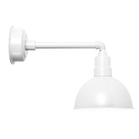 "Blackspot White Metropolitan 10"" Indoor/Outdoor LED Barn Light"